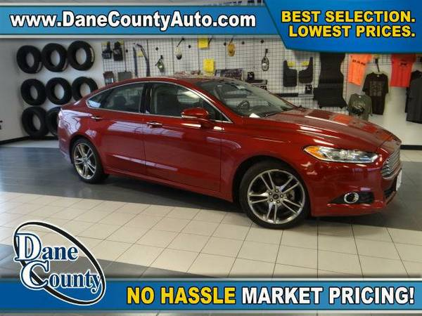 2013 *Ford Fusion* Titanium - Ford Ruby Red Metallic Tinted Clearcoat