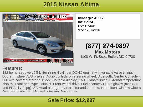 2015 Nissan Altima 2.5 **WE FINANCE**WE LOVE TRADE-INS**