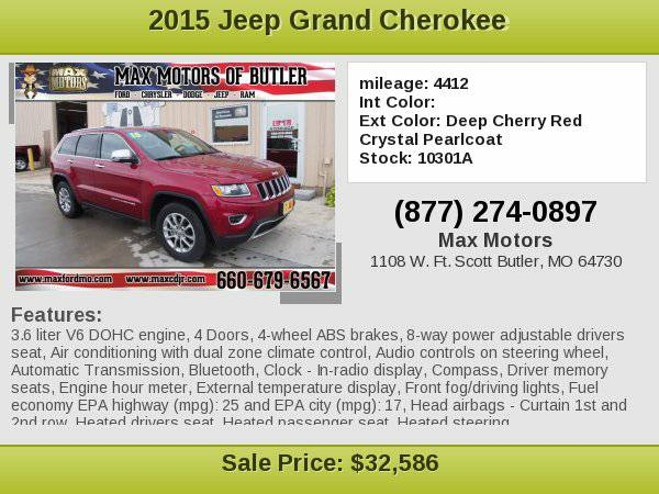 2015 Jeep Grand Cherokee Limited **WE FINANCE**WE LOVE TRADE-INS**