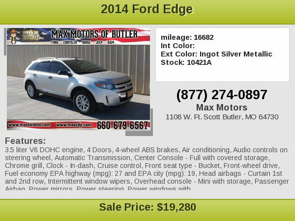 2014 Ford Edge SE **WE FINANCE**WE LOVE TRADE-INS**