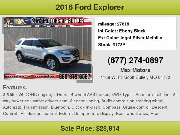 2016 Ford Explorer XLT **WE FINANCE**WE LOVE TRADE-INS**