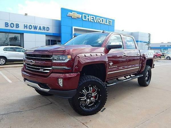 2017 *BLACK WIDOW* CHEVY SILVERADO LTZ 1500 RARE COLOR, LIFT WHEELS!!!