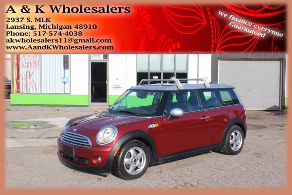 2008 MINI COOPER CLUBMAN BAD CREDIT FINANCING IMMEDIATE APPROVALS!