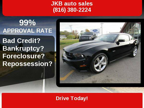 2012 Ford Mustang GT Premium Coupe Leather Shake Audio 18K All Black...