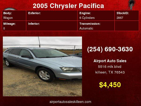 2005 Chrysler Pacifica 4dr Wgn Touring FWD with Instrument...