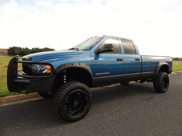 LIFTED HEART BREAKER 2004 3500 5.9L 4X4-BLUE PEARL-SWEET RIDE!CALL NOW
