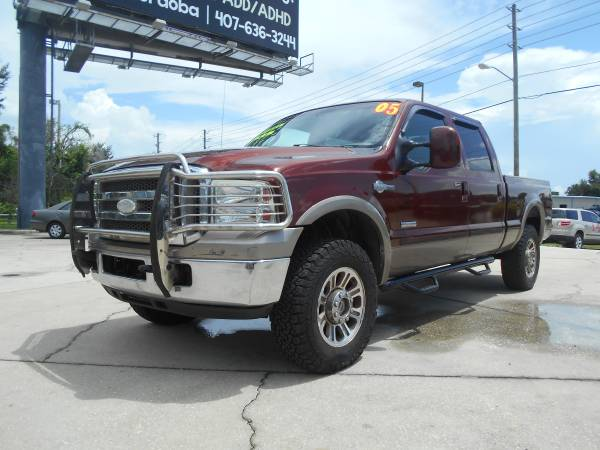 TRUCKS 2005 FORD F250 CREW CAB KING RANCH 4X4 POWERSTROKE DIESEL