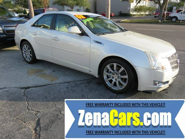 2008 CADILLAC CTS WARRANTY INCLUDED