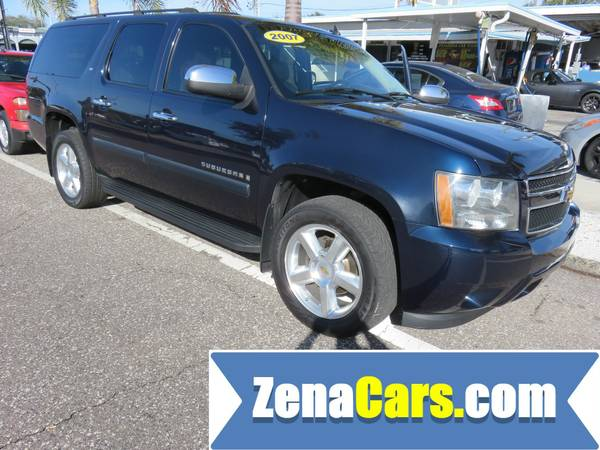 2007 CHEVY SUBURBAN LT WITH GREAT CAR FAX SERVICE WARRANTY INCLUDED