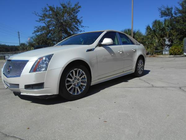 2011 CADILLAC 48,000 MILES CTS BLIZZARD PEARL WHITE SEDAN