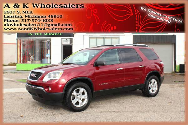 2008 GMC ACADIA! 3RD ROW SEAT! FINANCING FOR BAD OR NO CREDIT FAST!!!
