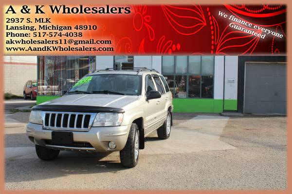 2004 JEEP GRAND CHEROKEE! ^^ LIMITED 4WD! ^^ FINANCING FOR ANYONE FAST