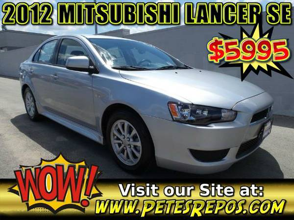 2012 Mitsubishi Lancer SE - Clean Title Low Miles