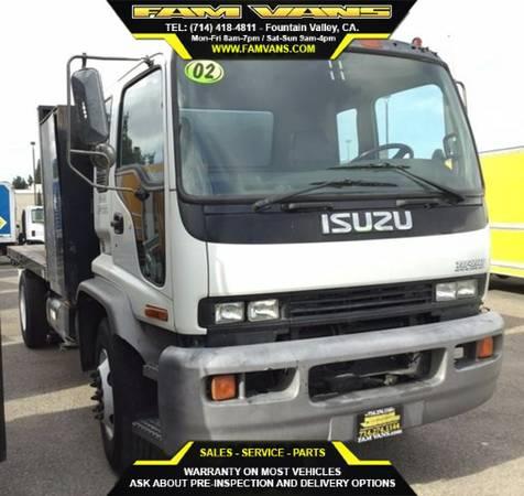 2002 Isuzu FTR Diesel 14Ft Flatbed Truck