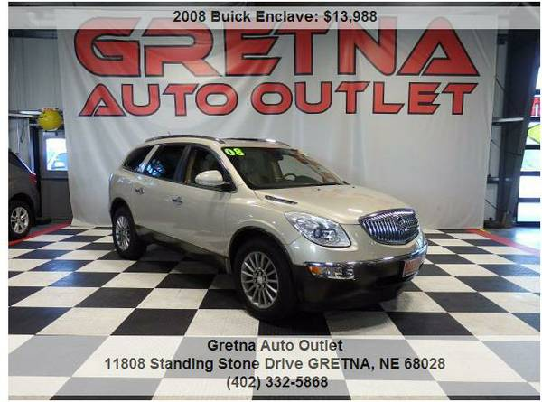 2008 Buick Enclave CXL*AWD LEATHER QUADS DUAL ROOF REAR DVD BOSE 116K*