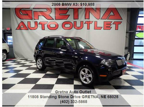 2008 BMW X3*AWD V6 ALL SEATS HEATED LEATHER 102K PANORAMIC MOONROOF!**
