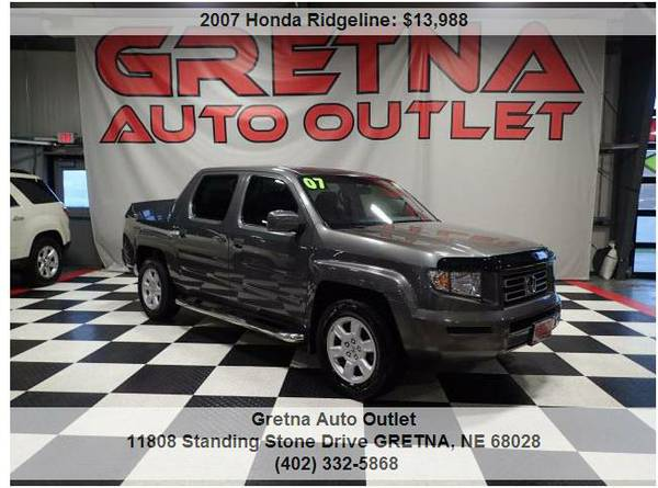 2007 Honda Ridgeline*RTS AWD V6 132K FULLY LOADED TONNEAU COVER 132K**