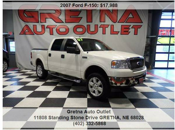 2007 Ford F-150*LARIAT SUPERCREW 4X4 135K V8 LEVELED OUT LOADED UP!!