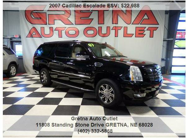 2007 Cadillac Escalade*ESV AWD 89K HEATED LEATHER QUADS POWER ALL!!*