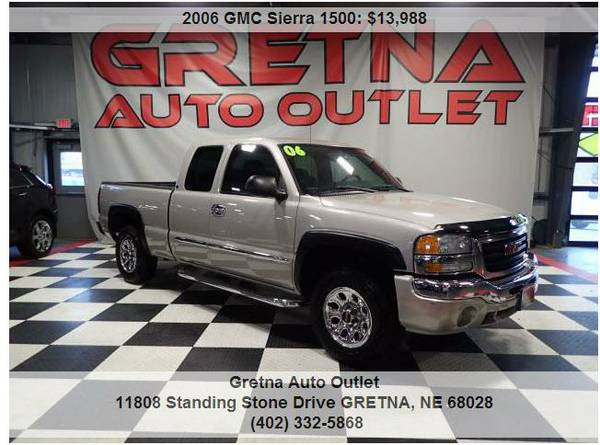 2006 GMC Sierra**EXTENDED CAB 5.3L VORTEC 4X4 CLEAN SHARP TRUCK!!*CALL
