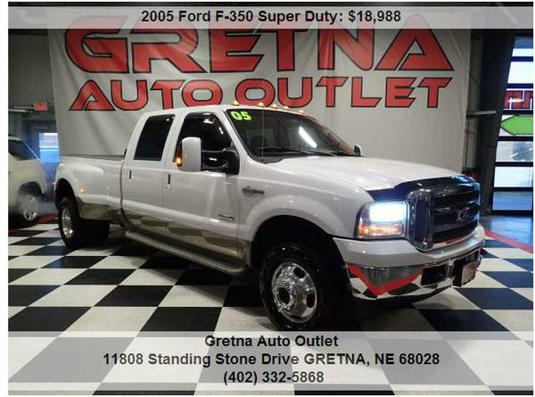 2005 Ford F-350*1 TON CREW POWERSTROKE DIESEL KING RANCH 4X4 DUALLY!!