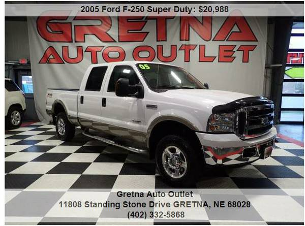 2005 Ford F-250*LARIAT CREW CAB DIESEL 4X4 102K FX-4 OFF ROAD PACKAGE!