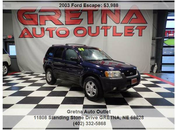 2003 Ford Escape*XLT 4WD 146K MOONROOF PIONEER SOUND READY 4 SNOW**