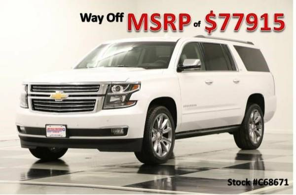 *SUBURBAN LTZ 4WD w COCOA LEATHER* 2016 Chevy *GPS NAV - DVD*