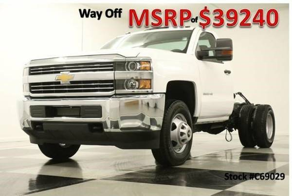 *SILVERADO 3500 HD 4X4 - SINGLE DRW* 2016 Chevy *CHASSIS - 6.0L V8*