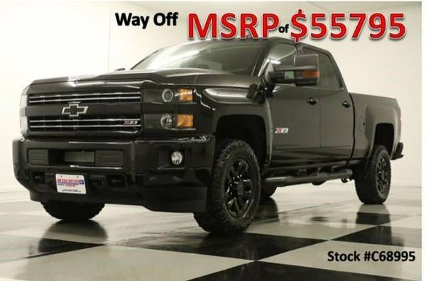 *LOADED MIDNIGHT SILVERADO 2500 CREW 4X4* 2016 Chevy *GPS - LEATHER*