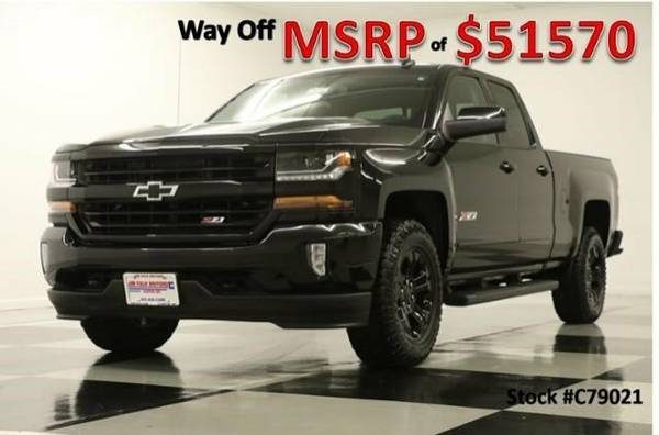*SILVEARDO 1500 Z71 EXT 4X4 - MIDNIGHT EDITION 2017 Chevy GPS LEATHER