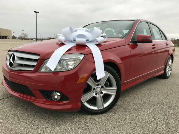 2010 Mercedes C300-4 Matic, (AWD), Sharp Red Color, Heated Leather