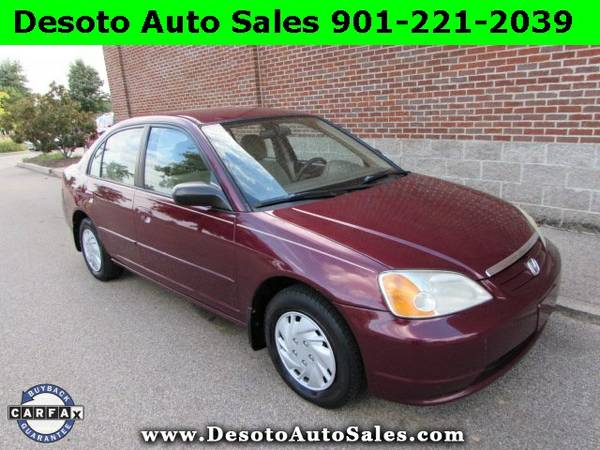 2003 Honda Civic LX Clean Carfax, Sporty 5 speed manual shift transmis
