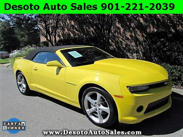 2015 Chevrolet Camaro 2LT Low miles, 1 Owner, Clean Carfax, V6 engine,