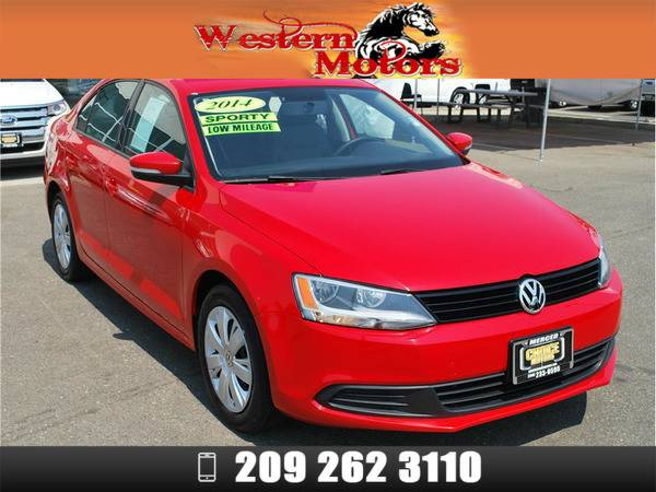 *2014* *Volkswagen VW Jetta* *1.8T SE Sedan 4D* Red