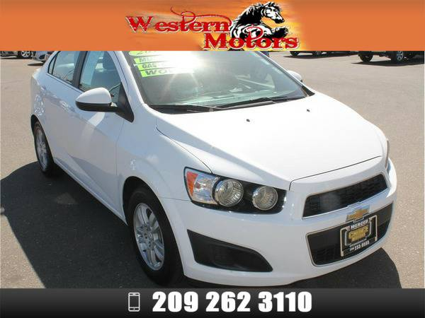 *2015* *Chevrolet Sonic* *LT Sedan 4D* White