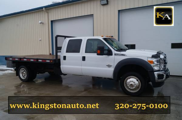 2013 Ford F450 XLT - 11ft Flatbed - 4WD 6.7L Diesel