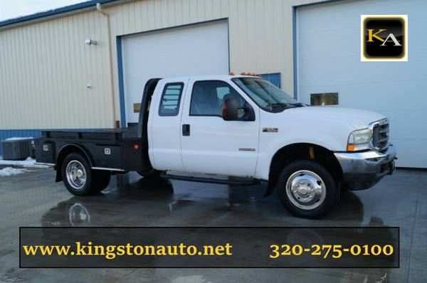 2004 Ford F550 - 9ft Flatbed - Ext Cab