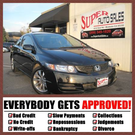 *$995 Down Only: 2009 Honda Civic EX 2dr Coupe