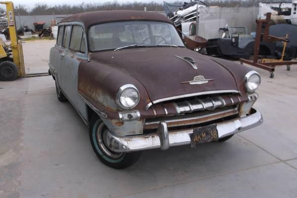 1953 plymouth suburban 2 door rat rod hot rod