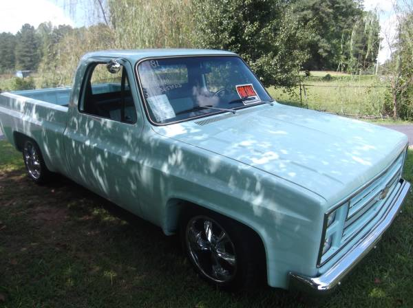 SALE OR TRADE*81 SHOW QUALITY C10 GRD UP RESTO,S/T