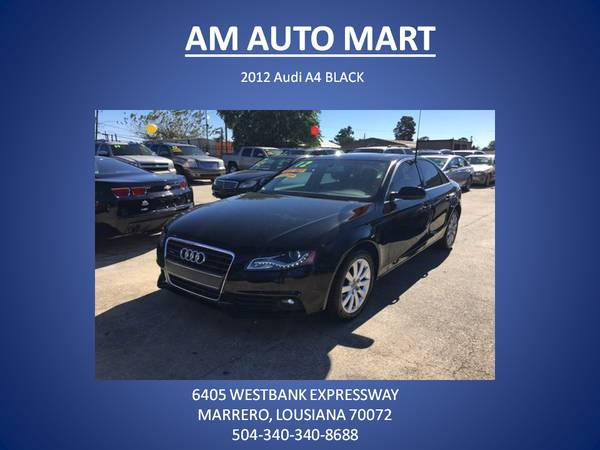 ★★2012 Audi A4 BLACK★★ 99.9 % APPROVED