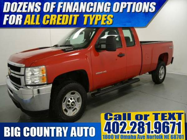 2012 Chevrolet Silverado 2500HD WORK TRUCK Extended Cab Pickup 4WD...