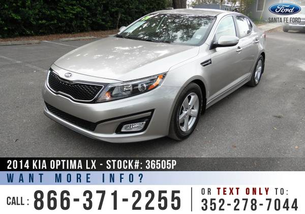 2014 KIA OPTIMA LX *** Sirius, Bluetooth, Warranty, Cruise, Kia Optima