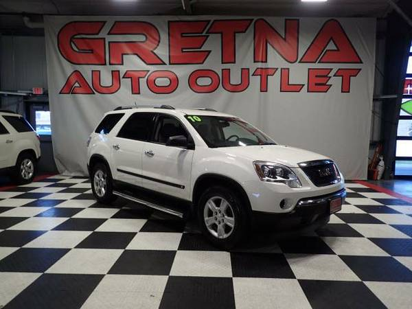 2010 GMC Acadia 1 OWNER SL FWD SEATS 8 PEOPLE V6 ONLY 86K
