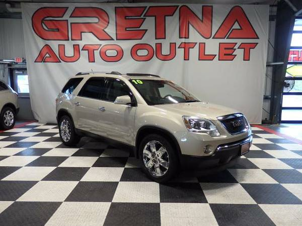2010 GMC Acadia SLT AWD 1 OWNER 89K DUAL ROOF REAR DVD PWR GATE