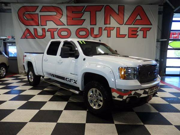 2011 GMC Sierra 3500HD SLT 1 TON DURAMAX LEATHER DIESEL 4X4 91K ROOF