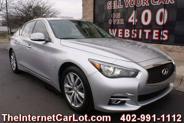 2015 INFINITI Q50 SEDAN 3.7L V6 AUTOMATIC LEATHER HEATED SEATS SUNROOF