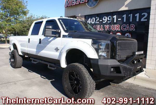 2011 FORD F-250 SUPER DUTY XLT CREW CAB DIESEL 4X4 LONG BED LIFTED