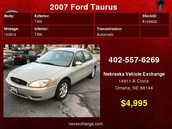 2007 Ford Taurus SEL Sedan 4D Financing Available